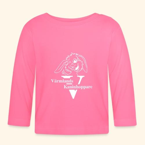 Vitt tryck - Långärmad T-shirt baby