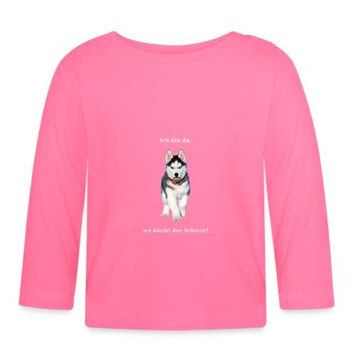 Husky Welpen mit bezaubernden Augen - Baby Langarmshirt