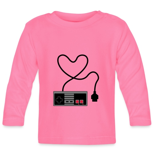 NES Controller Heart - Baby Long Sleeve T-Shirt