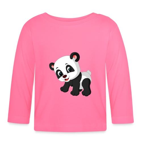 Panda Mignon - T-shirt manches longues Bébé