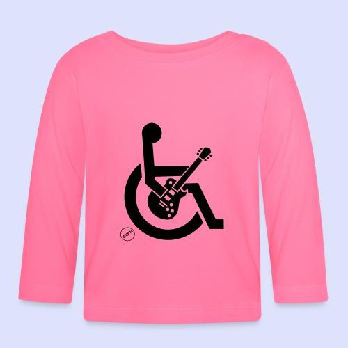 Rolstoel gebruiker met gitaar 002 - T-shirt