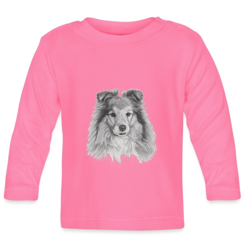 shetland sheepdog sheltie - Langærmet babyshirt