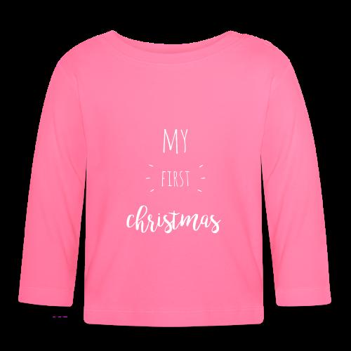 my first christmas - weiß - Baby Langarmshirt