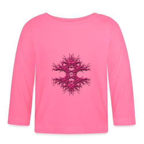 metal art pink 3d - Baby Langarmshirt