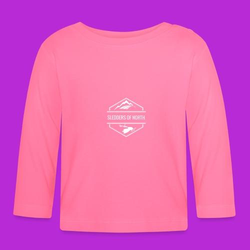 Hoodie White Logo - Baby Long Sleeve T-Shirt