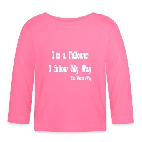 I follow My Way White - Koszulka niemowlęca z długim rękawem