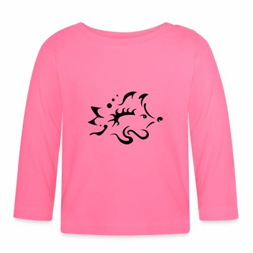 Hedgehog, pure tribal design - Baby Long Sleeve T-Shirt