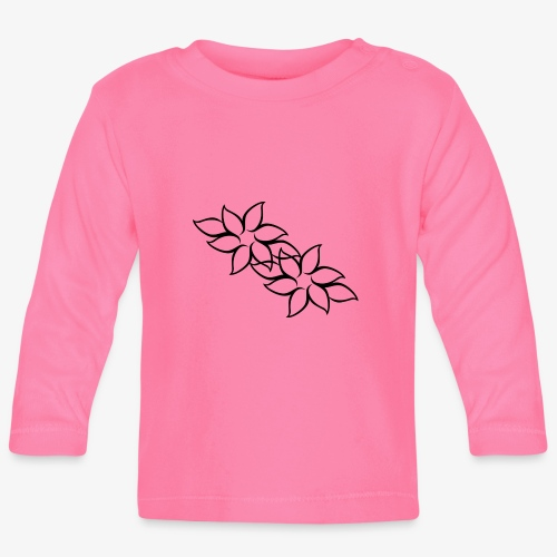 flowers - Langærmet babyshirt