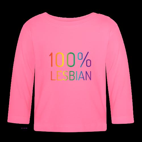 100% Lesbian in regenboog kleuren - T-shirt