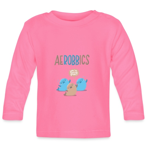 Aerobbics funny - Baby Langarmshirt