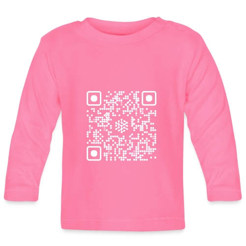 QR Safenetforum White - Baby Long Sleeve T-Shirt