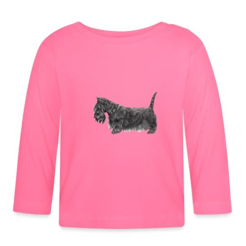 skotsk terrier ub - Langærmet babyshirt