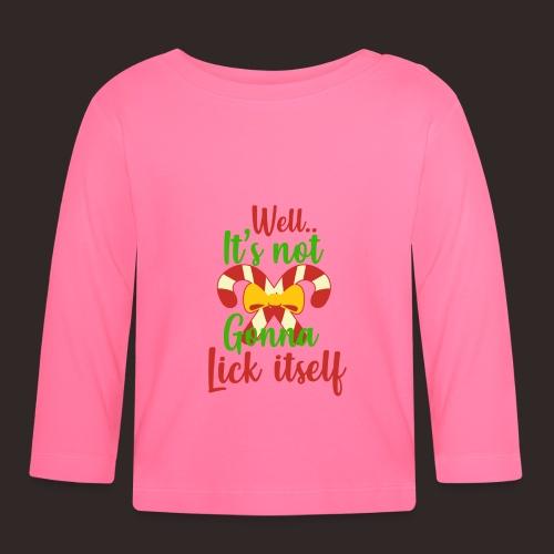 Weihnachten | lecken Zuckerstange Masche xmas - Baby Langarmshirt