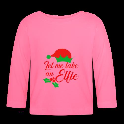 Weihnachten | Elf Mütze Weihnachtself Wortspiel - Baby Langarmshirt