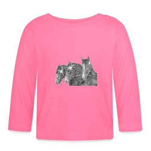 Friesian horse - Langærmet babyshirt