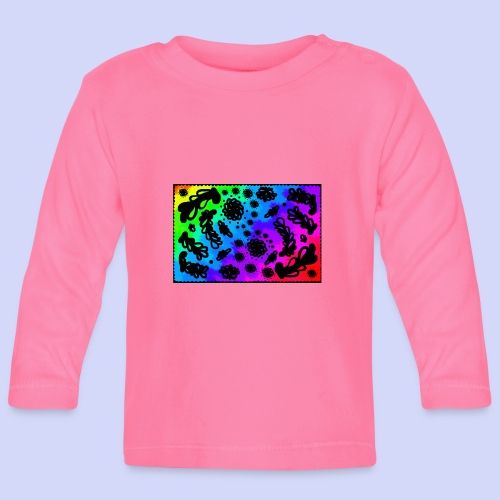 Rainbow doodle - Female shirt - Langærmet babyshirt