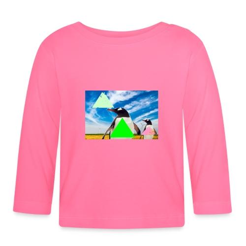ultra_mega_h--ftig_pingvin_med_yolo_man_swag - Långärmad T-shirt baby