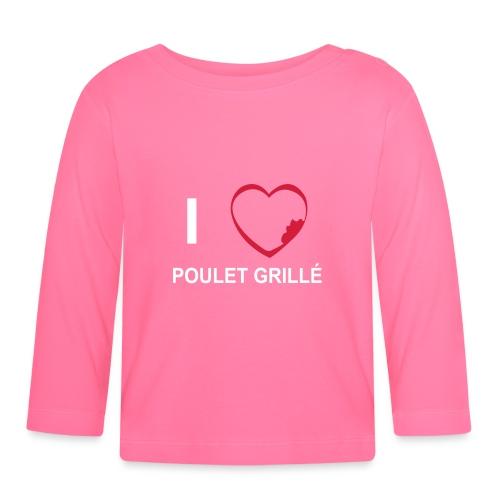 i love POULET GRILLE BlGr - T-shirt manches longues Bébé
