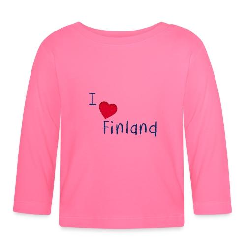 I Love Finland - Vauvan pitkähihainen paita