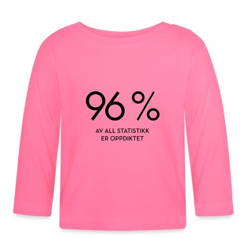 Statistikk-sprøyt (fra Det norske plagg) - Langarmet baby-T-skjorte