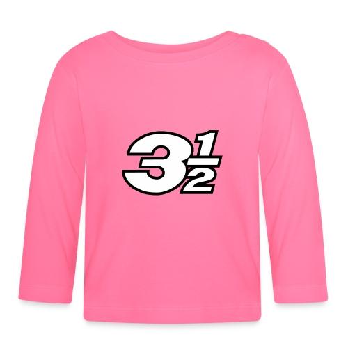 Three and a Half Logo - Baby Long Sleeve T-Shirt