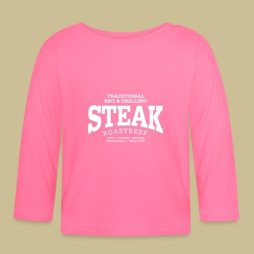 Steak (white) - Baby Langarmshirt