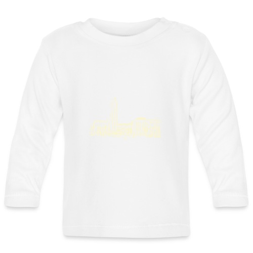 Helsinki railway station pattern trasparent beige - Baby Long Sleeve T-Shirt