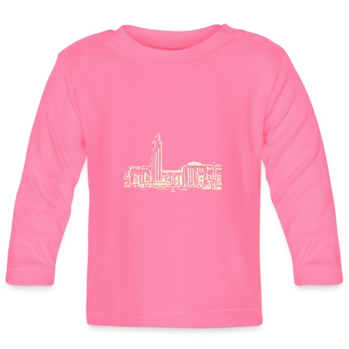 Helsinki railway station pattern trasparent beige - Baby Long Sleeve T-Shirt