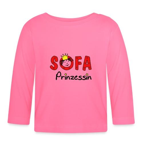 Sofaprinzessin Schriftzug - Baby Langarmshirt