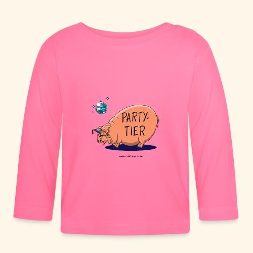 Partytier Schwein Fete Feier Party Sau - Baby Langarmshirt