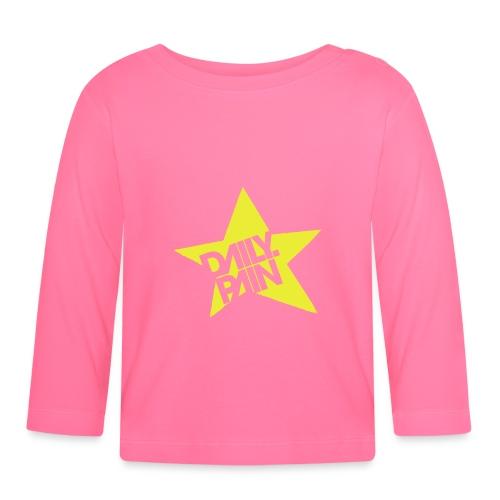 daily pain star - Koszulka niemowlęca z długim rękawem