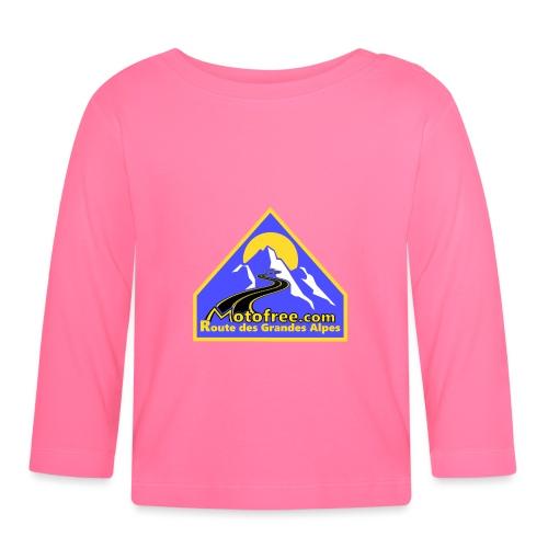 Logo motofree bleu - T-shirt manches longues Bébé