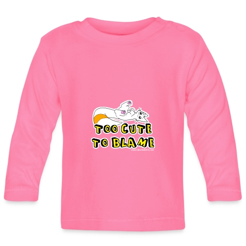 Too Cute To Blame - Baby Long Sleeve T-Shirt