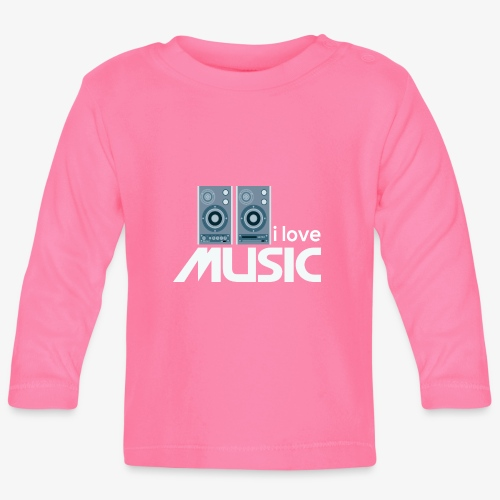 Amo la música 02 - Camiseta manga larga bebé