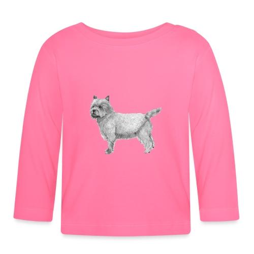 cairn terrier - Langærmet babyshirt