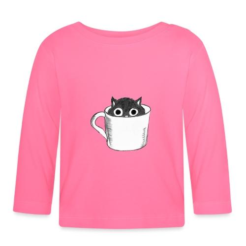 Katze in Tasse - Baby Langarmshirt