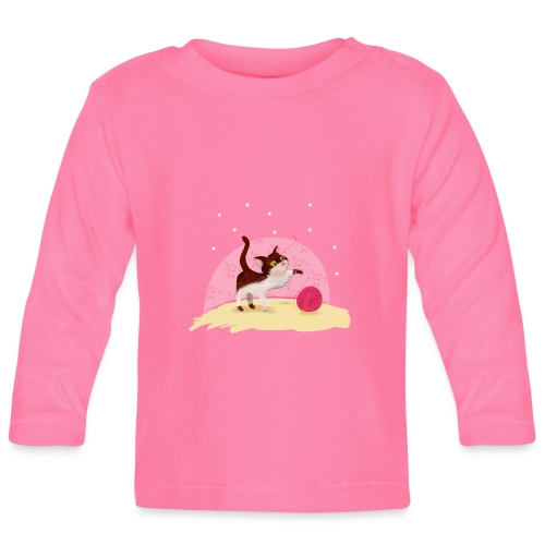Spelend poesje - T-shirt manches longues Bébé