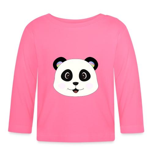 panda rainbow - Camiseta manga larga bebé