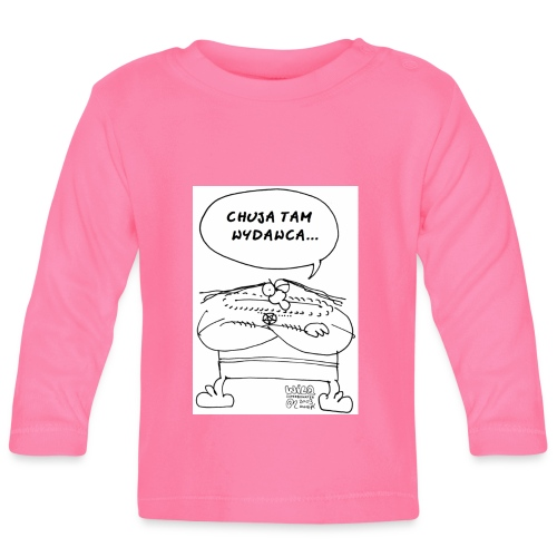 chuja tam wydawca - Koszulka niemowlęca z długim rękawem