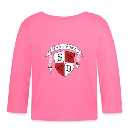 SD logo - hvide lænker - Langærmet babyshirt