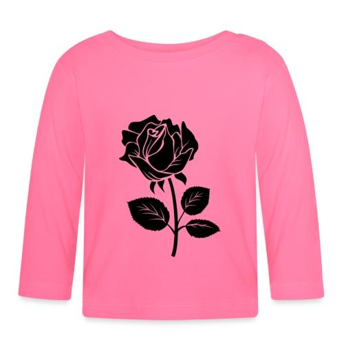 Rosa - Camiseta manga larga bebé