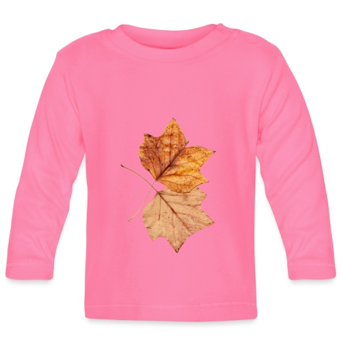 Blätter - Baby Langarmshirt