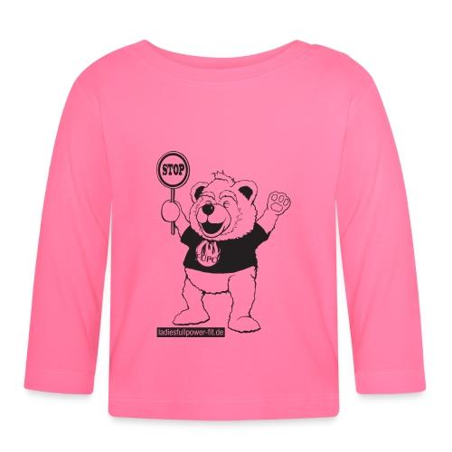 FUPO der Bär. Druckfarbe schwarz - Baby Langarmshirt