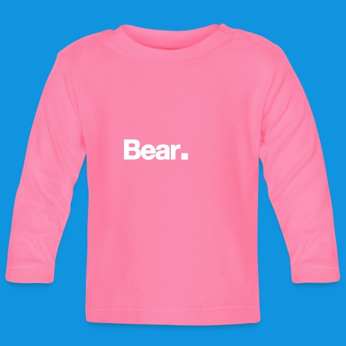 Bear. Retro Bag - Baby Long Sleeve T-Shirt