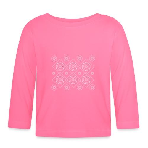 pink geometric print - Koszulka niemowlęca z długim rękawem