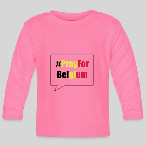 #PrayForBelgium - T-shirt manches longues Bébé