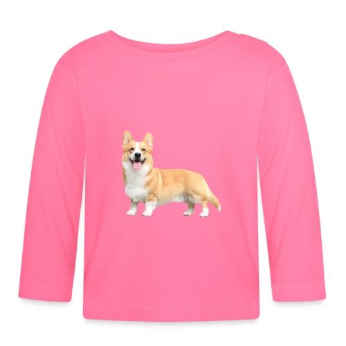 Topi the Corgi - Sideview - Baby Long Sleeve T-Shirt
