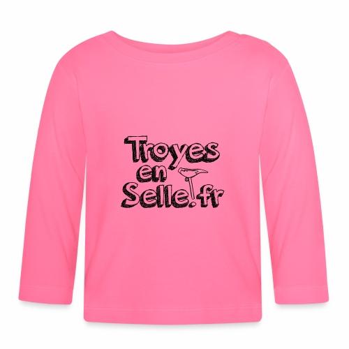 logo Troyes en Selle noir - T-shirt manches longues Bébé