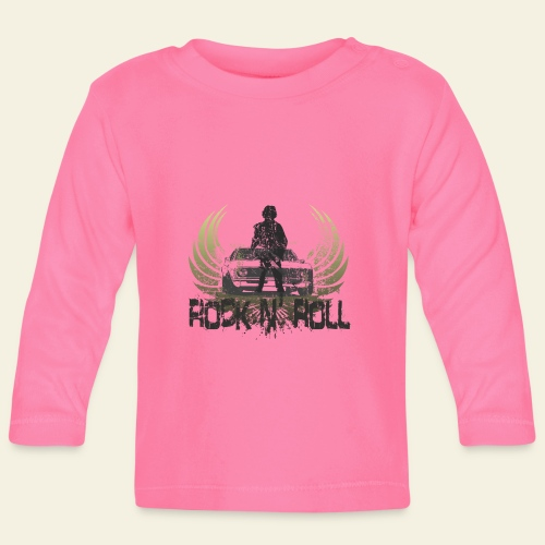 rock n roll camaro - Langærmet babyshirt