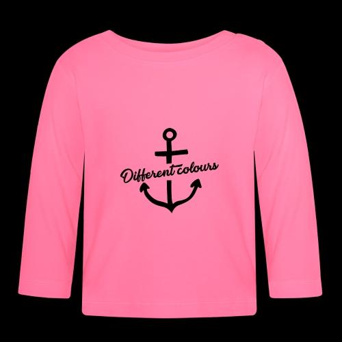 Different Colours Black Logo - Maglietta a manica lunga per bambini